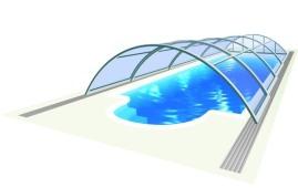 Střední zastřešěení bazénů