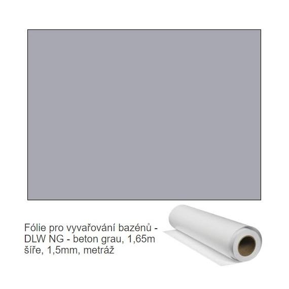 Fólie pro vyvařování bazénů - DLW NG - beton grau, 1,65m šíře, 1,5mm, metráž