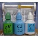Kapkový tester na chlor a pH