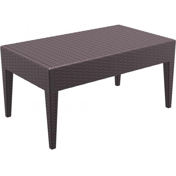 SIESTA EXCLUSIVE, Stůl MIAMI LOUNGE hnědý