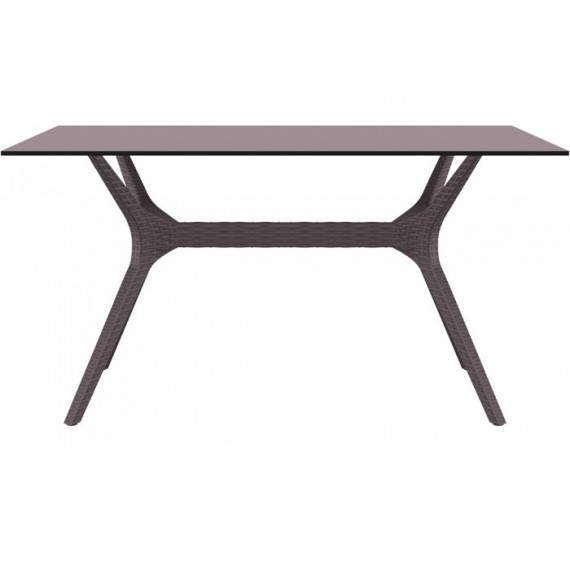 SIESTA EXCLUSIVE, Stůl IBIZA 140 hnědý