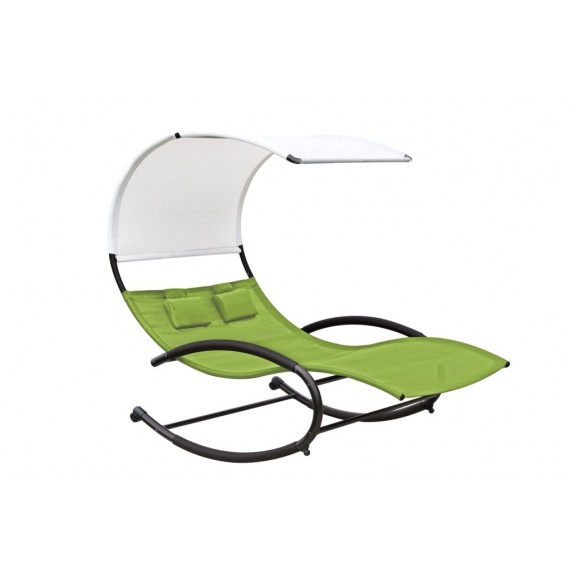 Vivere - Double Chaise Rocker, Green Apple