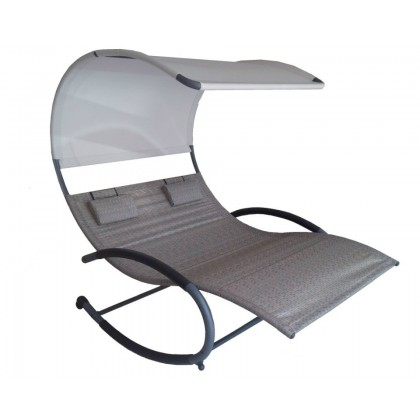 Vivere - Double Chaise Rocker, Sienna