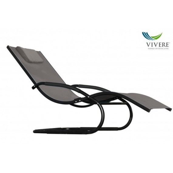 Vivere - Wave Lounger,  Black Chrome (with frame)
