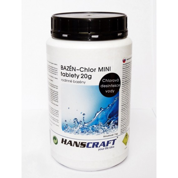 Chlor MINI tablety 20g - 1 kg
