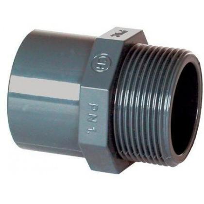 """PVC tvarovka - Přechodka 40 32 x 1"""" (vnější rozměr)"""