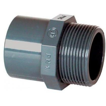 "PVC tvarovka - Přechodka 50–40 x 1"" ext."