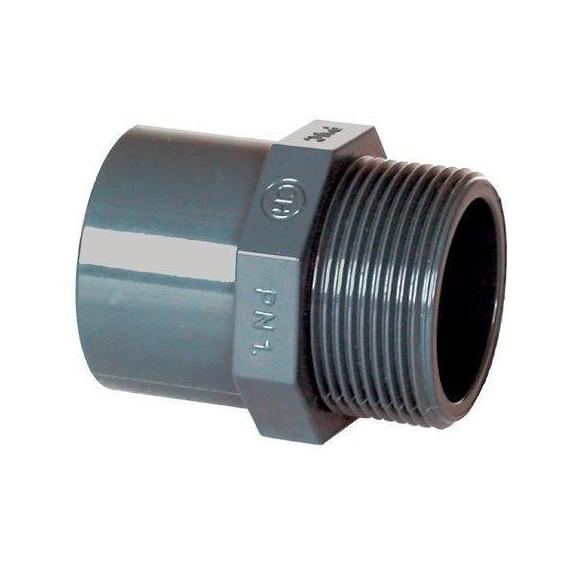 """PVC tvarovka - Přechodka 50--40 x 1 1/2"""" (vnější rozměr)"""