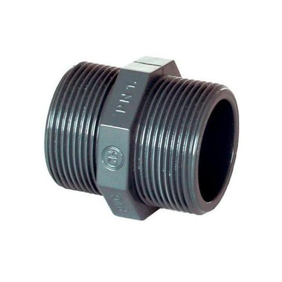 """PVC tvarovka - Dvojnipl 2"""" (vnější rozměr)"""