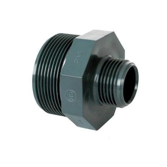 """PVC tvarovka - Dvojnipl redukovaný 2 1/2"""" x 2"""" (vnější rozměr)"""