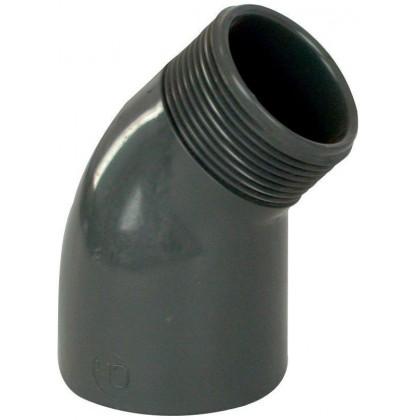 """PVC tvarovka - Úhel 45° 50 x 1 1/2"""" (vnější rozměr)"""