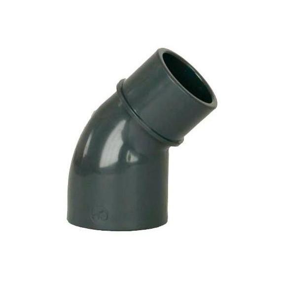 PVC tvarovka - Úhel 45° 63 (vnitřní rozměr) x 63 (vnější rozměr)