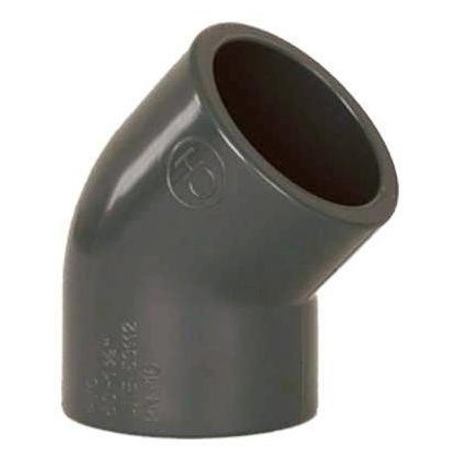 PVC tvarovka - Úhel 45° 75 mm