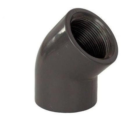 """PVC tvarovka - Úhel 45° 50 x 1 1/2"""" (vnitřní rozměr)"""