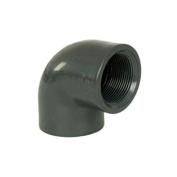 """PVC tvarovka - Úhel 90° 32 x 1"""" (vnitřní rozměr)"""