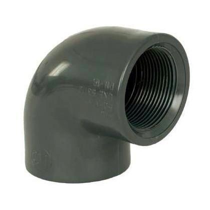 """PVC tvarovka - Úhel 90° 50 x 1 1/2"""" (vnitřní rozměr)"""
