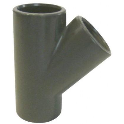 PVC tvarovka - T-kus 45° 63 mm