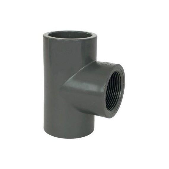 """PVC tvarovka - T-kus 90° 40 x 1 1/4"""" (vnitřní rozměr)"""