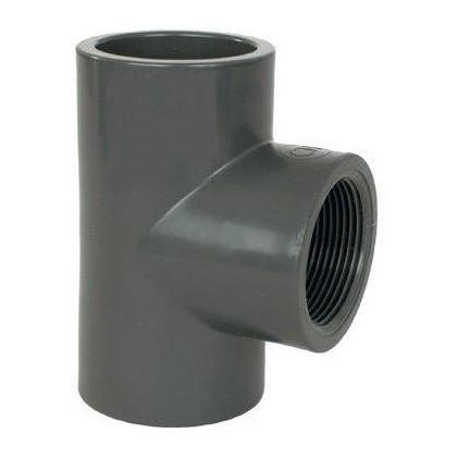 """PVC tvarovka - T-kus 90° 63 x 1 1/2"""" (vnitřní rozměr)"""