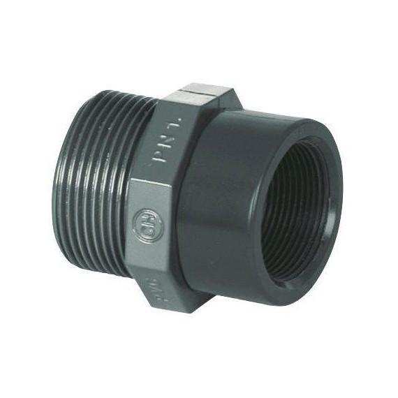 """PVC tvarovka - Redukce 1 1/4"""" (vnější rozměr) x 1"""" (vnitřní rozměr)"""