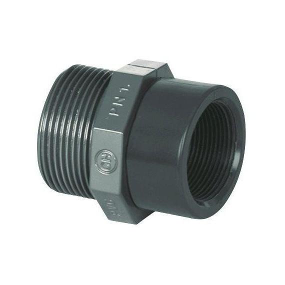 """PVC tvarovka - Redukce 1 1/2"""" (vnější rozměr) x 1 1/4"""" (vnitřní rozměr)"""