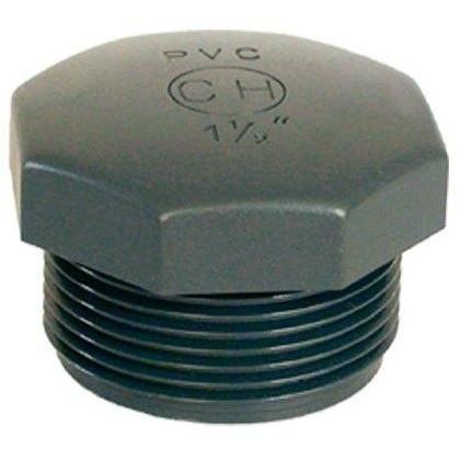 """PVC tvarovka - Zátka 1/2"""" (vnější rozměr)"""
