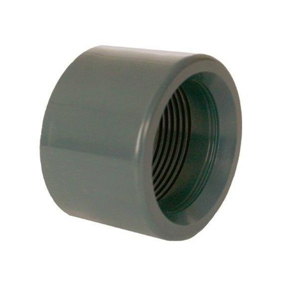 """PVC tvarovka - Redukce krátká vkládací se závitem 25 x 3/8"""" (vnitřní rozměr)"""