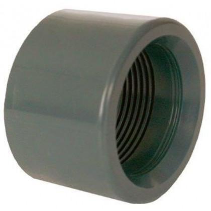 """PVC tvarovka - Redukce krátká vkládací se závitem 63 x 1 1/2"""" (vnitřní rozměr)"""