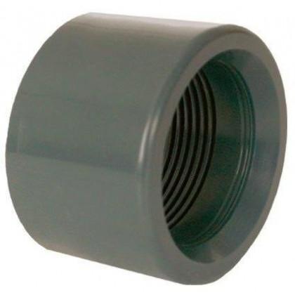 """PVC tvarovka - Redukce krátká vkládací se závitem 90 x 2 1/2"""" (vnitřní rozměr)"""