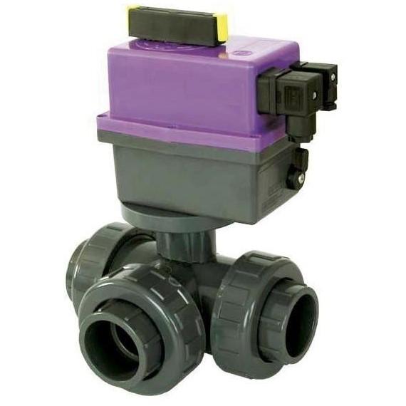PVC Kulový el třícestný ventil 50 mm CH-L (nové FIP-L)