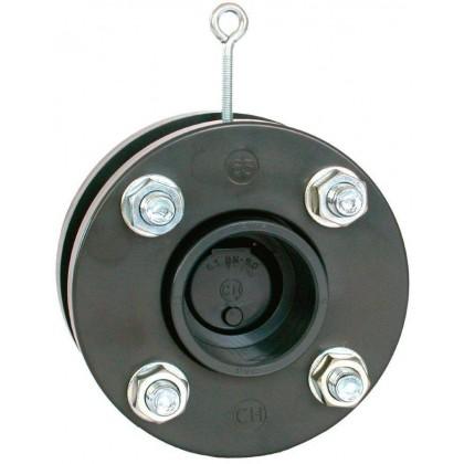 Zpětná klapka s přírubami a s manžetami 315 mm