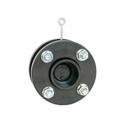 Zpětná klapka s pružinou a přírubou 90 mm