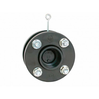 Zpětná klapka s pružinou a přírubou 160 mm