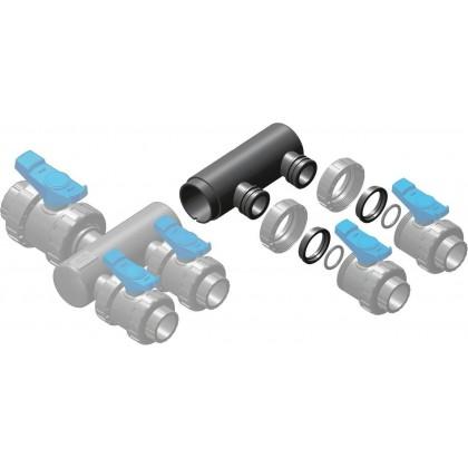 Sběrací potrubí - nástavec sběrače 2x přímé napojení ventilu 50 mm