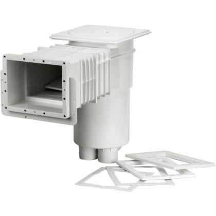 Skimmer VA,sání 215 x 160 mm,pro fólie,prodlouž hrdlo,mosaz zástřiky