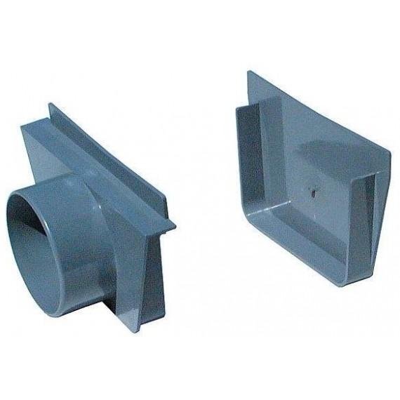 Přelivový žlábek - Koncovka vnitřní vnější PVC s výpustí