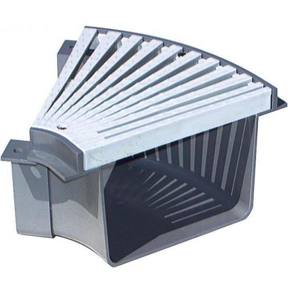 Přelivový žlábek - Roh s roštem 45° PVC