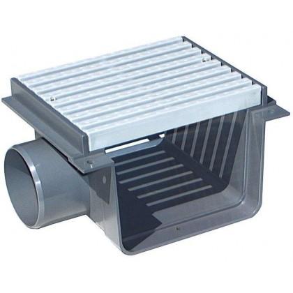 Přelivový žlábek - Středová spojka s roštem PVC