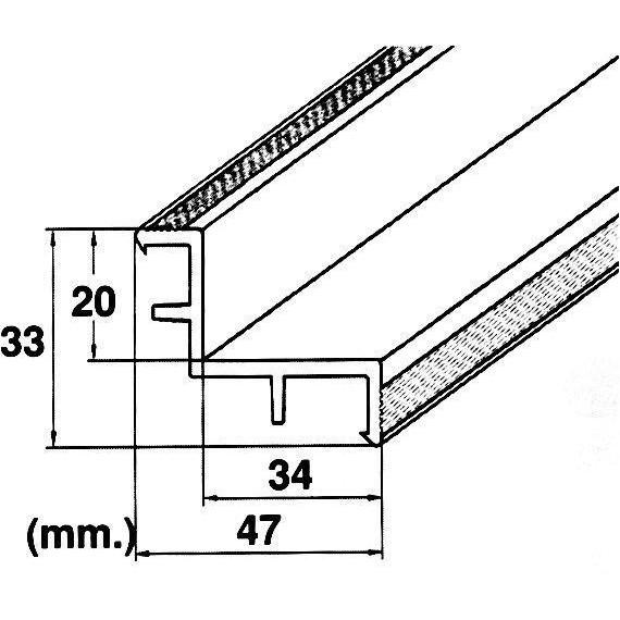 Roll rošt hrana (MP200-LAF) přelivného žlábku, délka 2 m