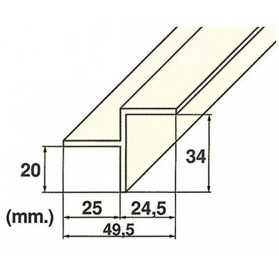 Roll rošt hrana (MP201-LAT) přelivného žlábku, délka 2 m
