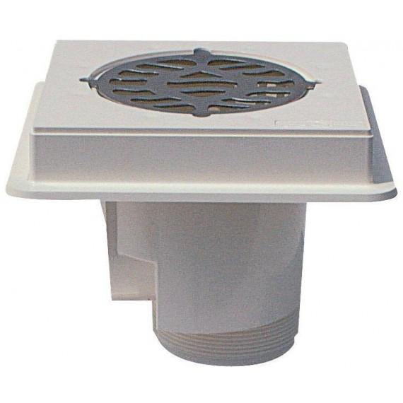 Podlahová výpust ABS, nerez mřížka AISI 316, pro beton