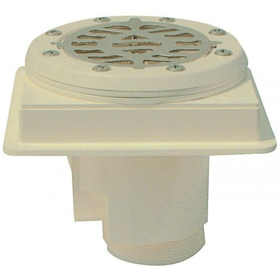Podlahová výpust ABS, nerez mřížka AISI 316, pro fólii