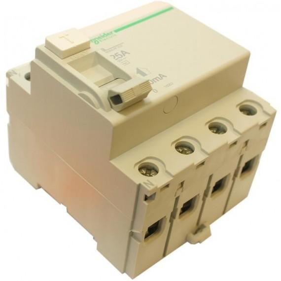 Chránič proudový 4 pólový, 25 A/30 mA