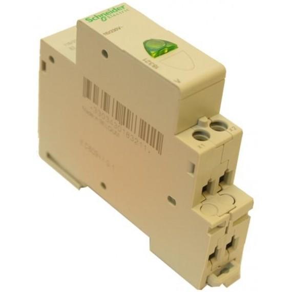 Kontrolka na DIN lištu zelená 230 V