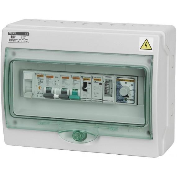 Automatické ovládání pro filtraci/světlo/protiproud/tepelné čerpadlo - F1SP3TČ