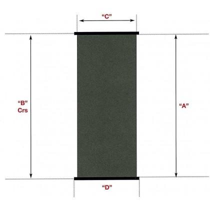 Solární kolektor SC 1,2 m x 3,0 m -- plocha 3,6 m2