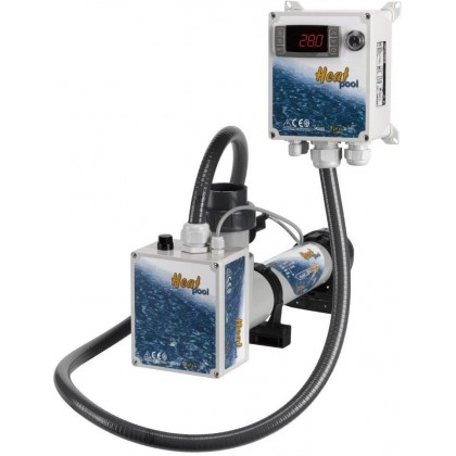 Topení - Heat Pool 3kW, 400V, Titan, el průt spínač,dig termostat
