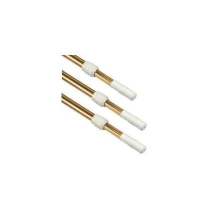 Teleskopická tyč 2,4 4,8 m, zlatá, dvou-dílná (průměr 28/32 mm)