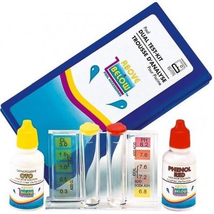 Tester kapičkový Cl/pH metoda pomocí kapek (v pouzdře)