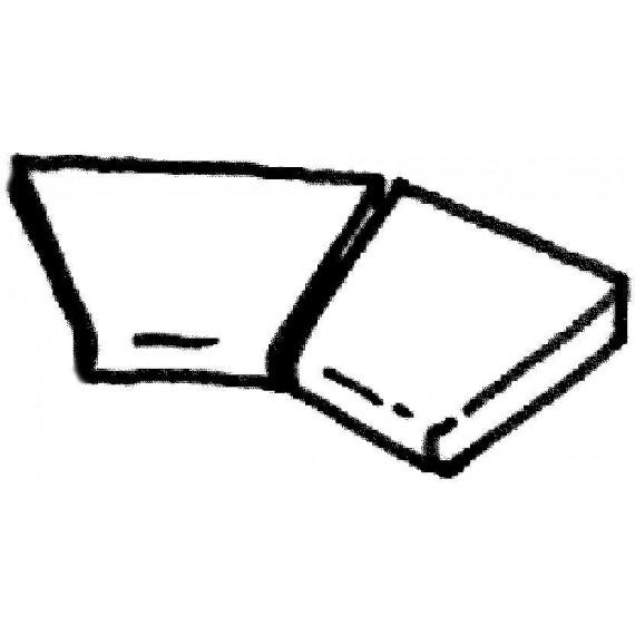 Dlažba Sahara - rohová dlaždice R 610 (vnitřní rozměr) , 2 ks
